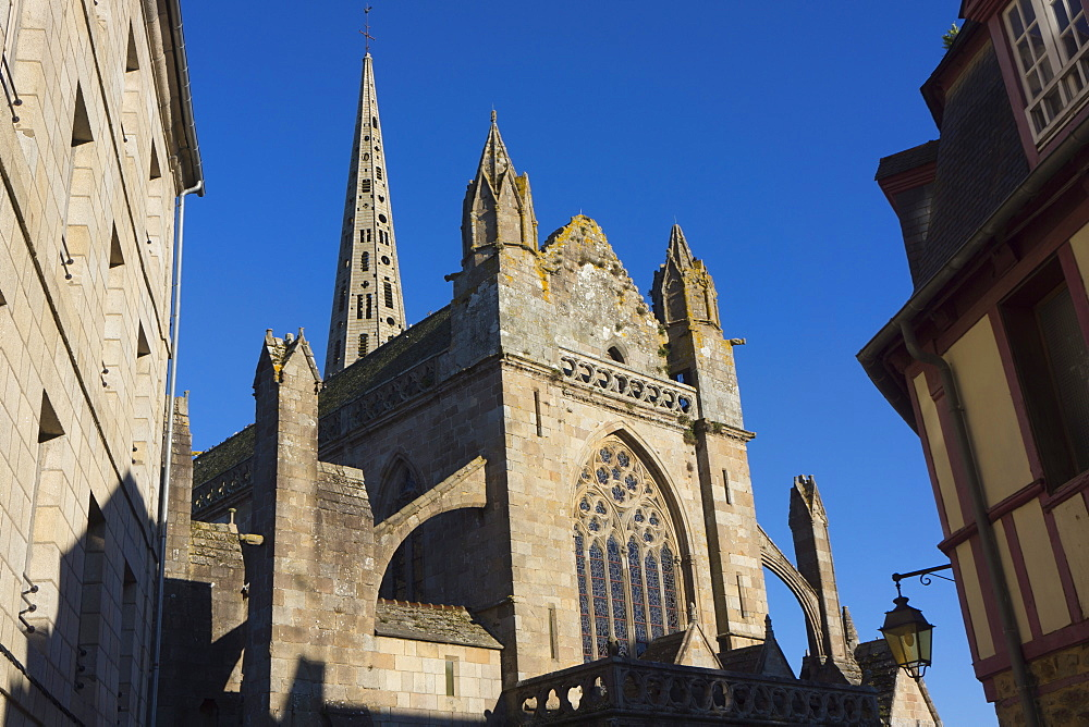 St. Yves cathedral dating from the 14th century, Treguier, Brittany, France, Europe