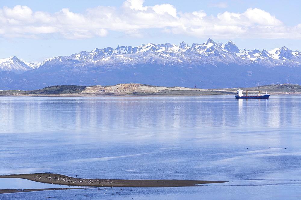 Ushuaia anchorage, Tierra del Fuego, Patagonia, Argentina, South America