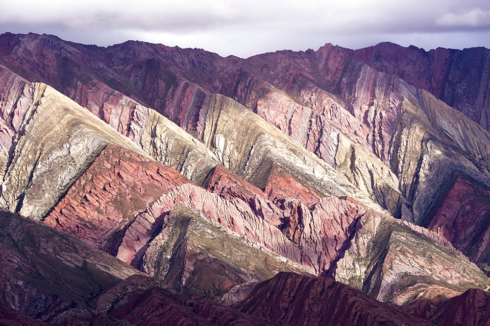 Multi coloured mountains, Humahuaca, province of Jujuy, Argentina, South America - 483-1832