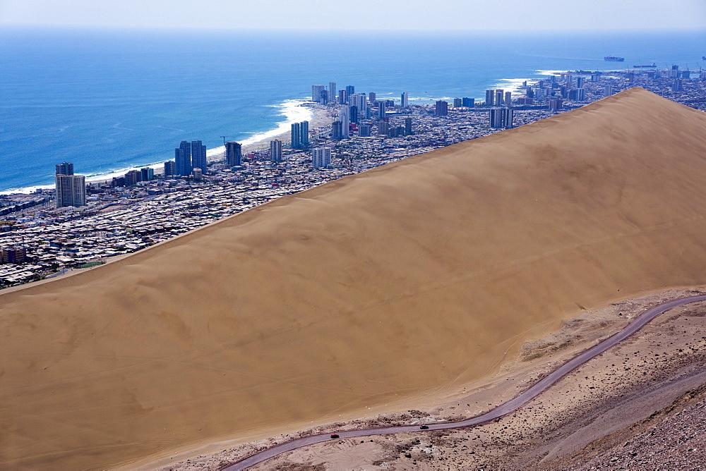 Iquique town and beach, Atacama desert, Chile, South America