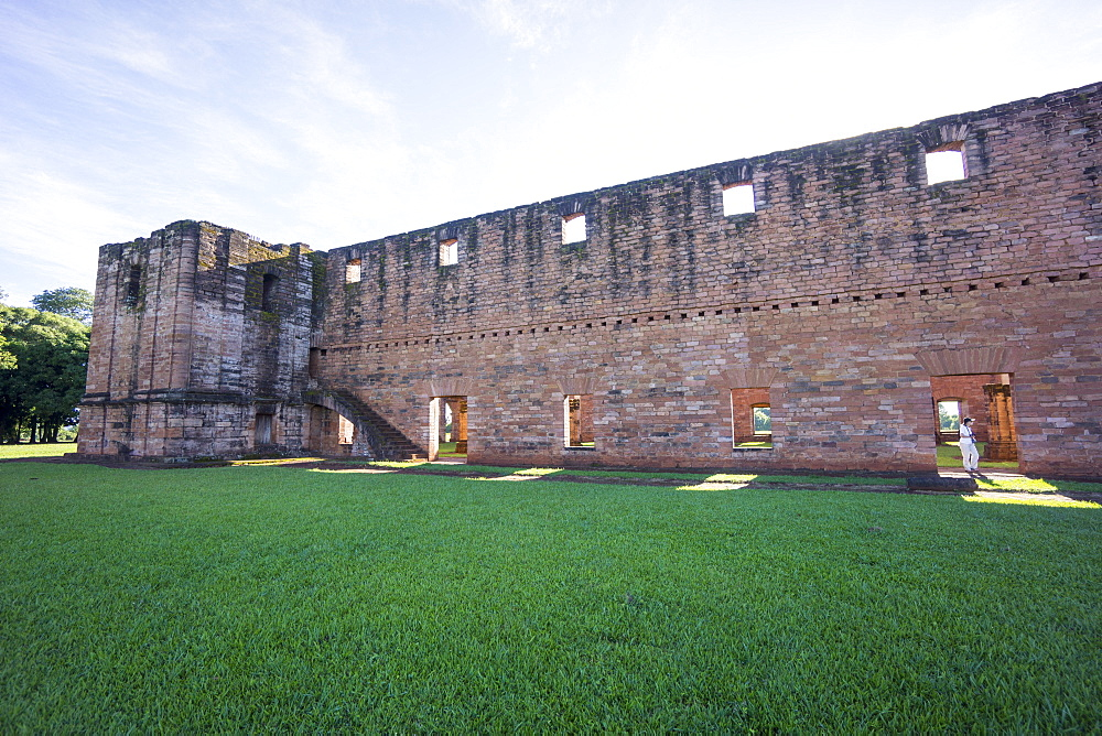 Jesus de Tavarangue, one of the best preserved Jesuit Missions, UNESCO World Heritage Site, Paraguay, South America