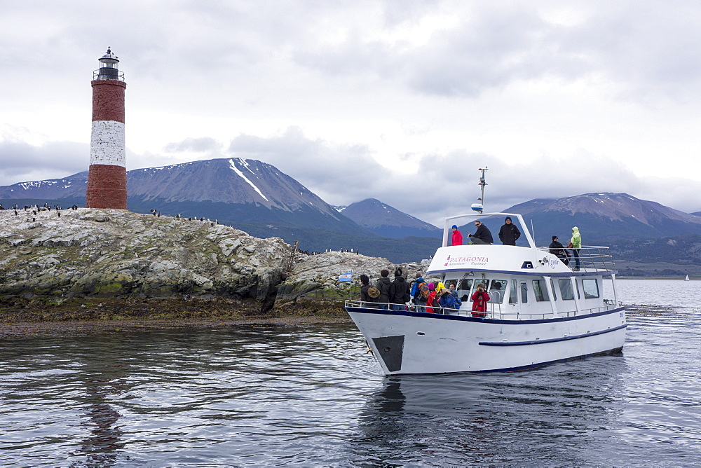 The Beagle Channel lighthouse, Tierra del Fuego, Argentina, South America