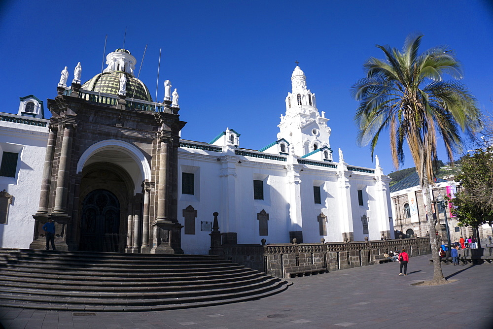 Iglesia de San Francisco, UNESCO World Heritage Site, Quito, Ecuador, South America