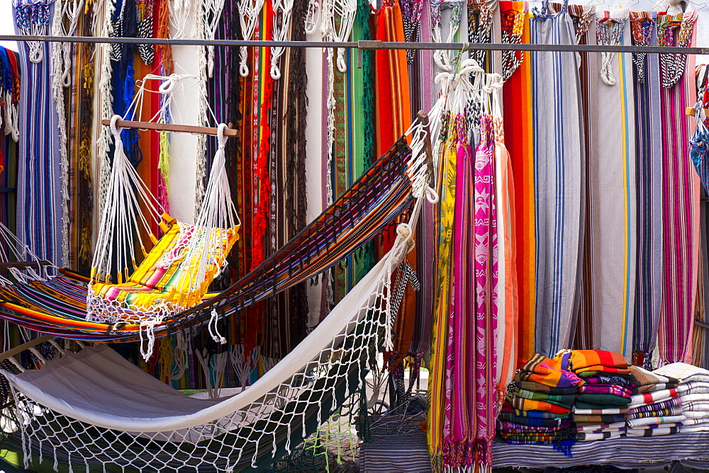 Hammocks for sale, Otovalo craft market, Otovalo, Ecuador, South America
