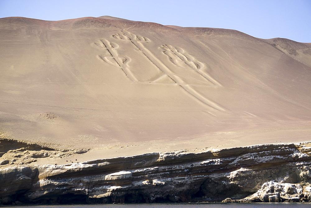 Hieroglyphs, Ballestos Islands, Peru, South America - 483-1996