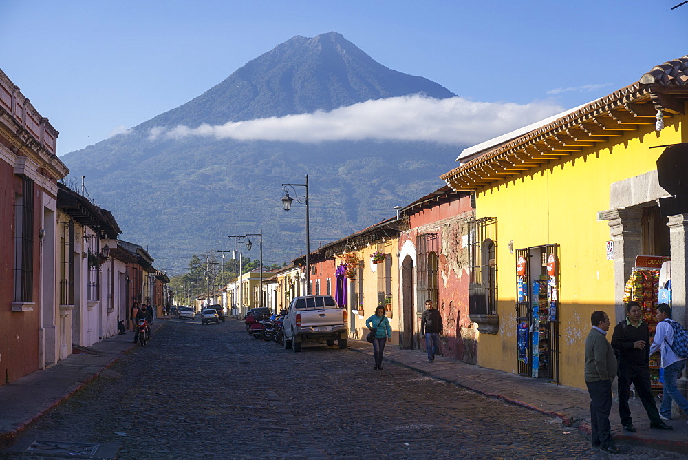Antigua and Vulcano Fuego, Guatemala, Central America - 483-2004