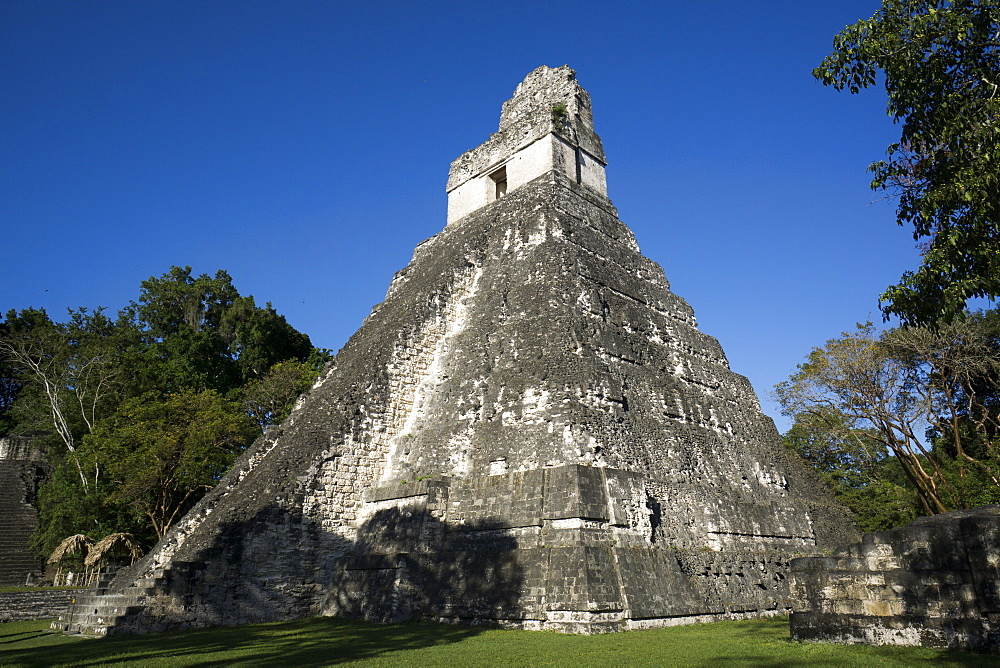 Tikal temple 1, Pre-Columbian Maya civilisation, Tikal, UNESCO World Heritage Site, Guatemala, Central America