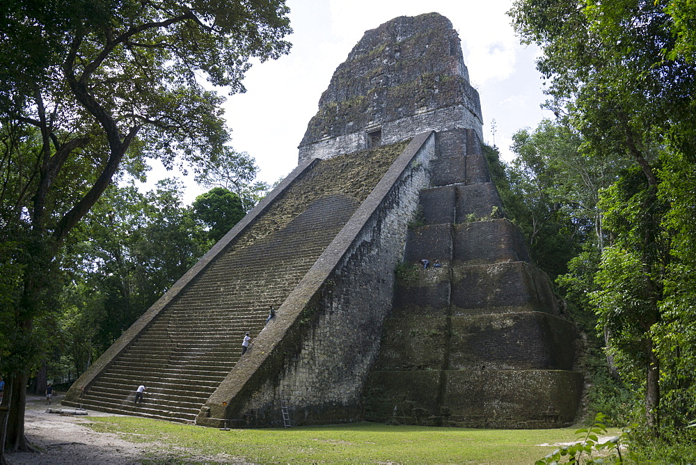 Tikal Temple 5, pre-Colombian Maya civilisation, Tikal, UNESCO World Heritage Site, Guatemala, Central America