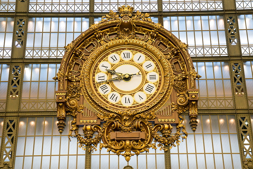 Clock, Musee d'Orsay, Paris, France, Europe