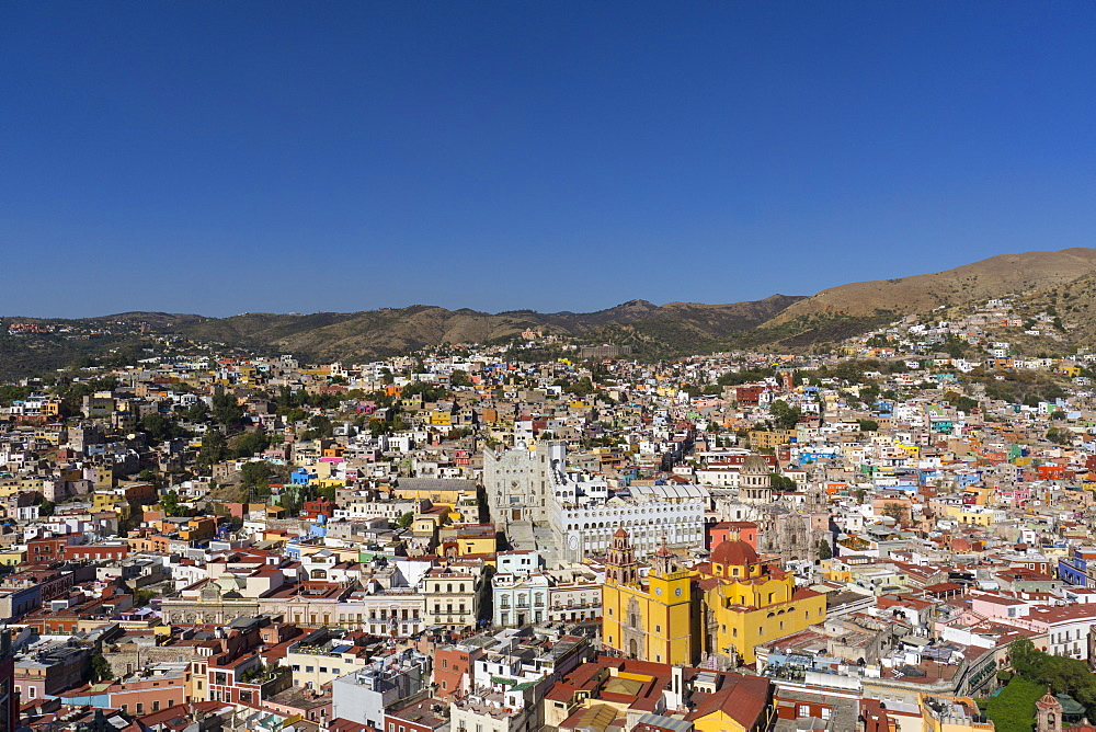 Town view from funicular, Guanajuato, UNESCO World Heritage Site, Mexico, North America - 483-2049