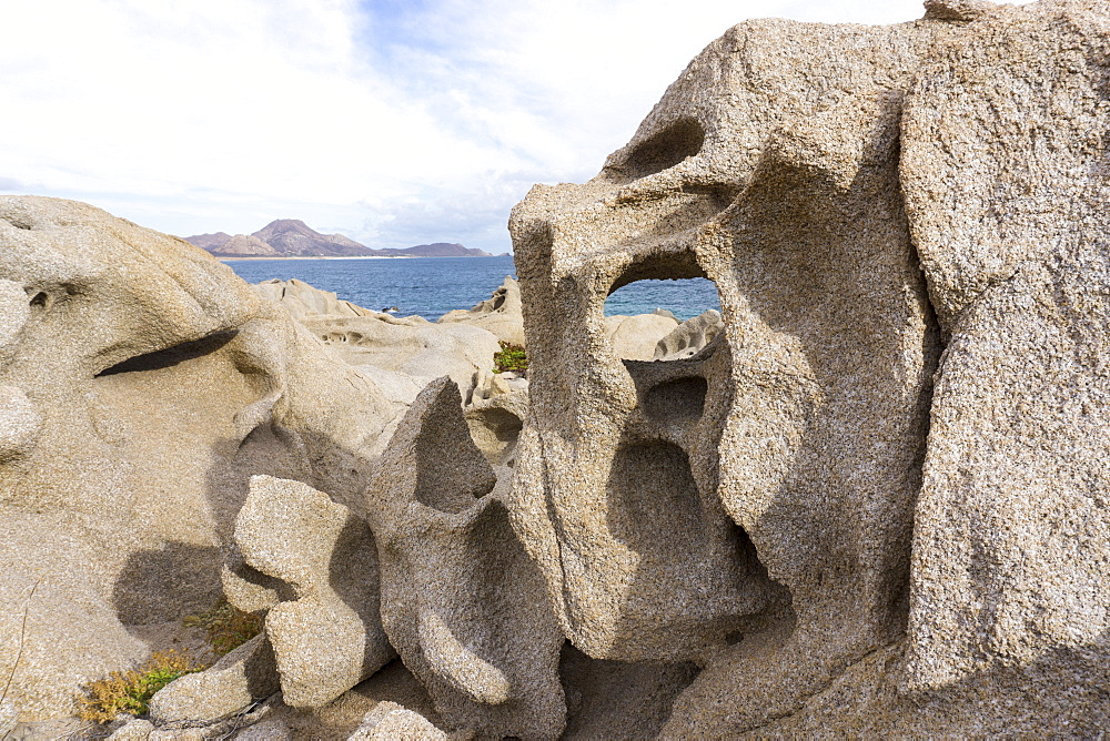 Las Serenitas, wind and wave erosion sculptures, Cabo Pulmo, UNESCO World Heritage Site, Baja California, Mexico, North America