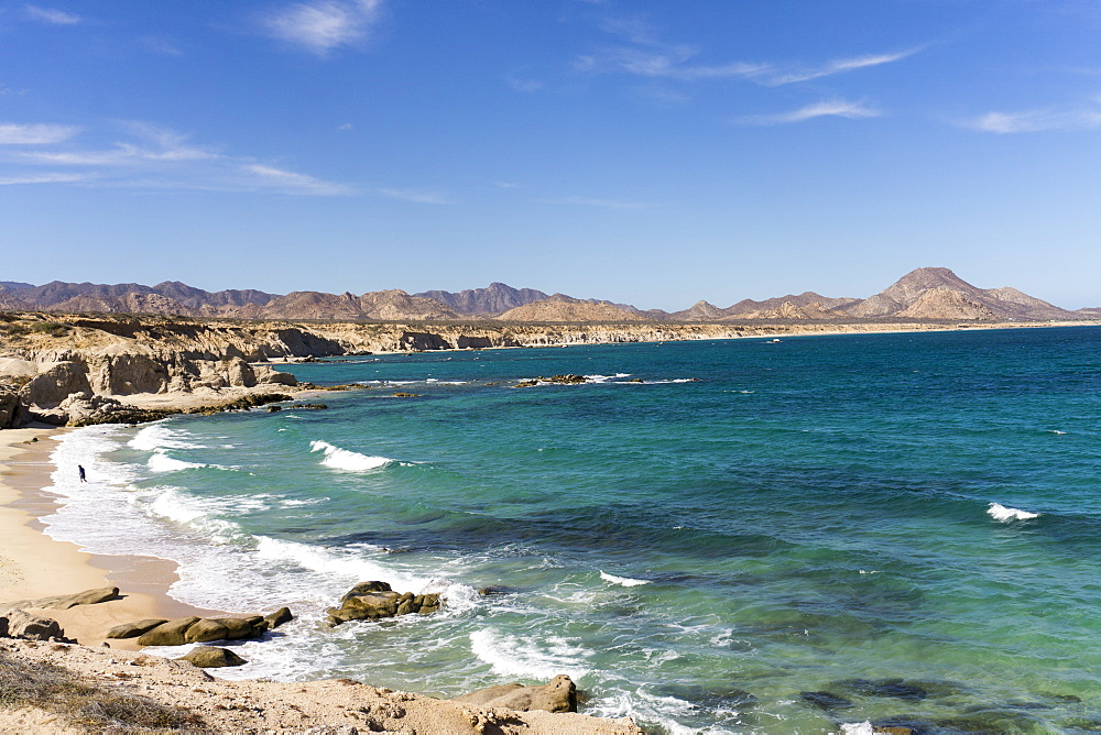 Beach and sea, Cabo Pulmo, UNESCO World Heritage Site, Baja California, Mexico, North America