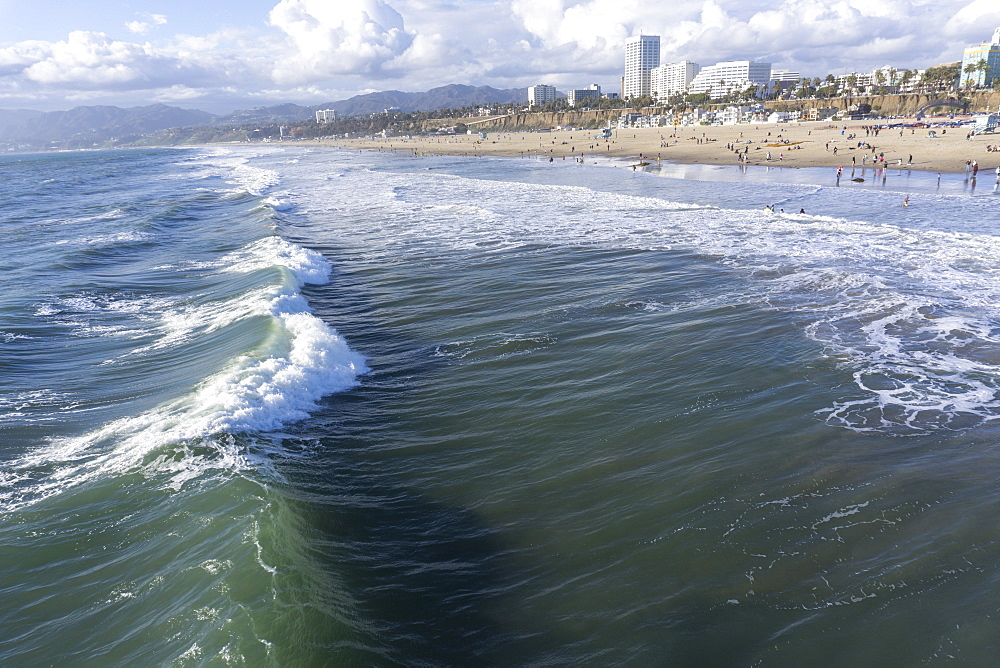 Sea and beach, Santa Monica, California, United States of America, North America
