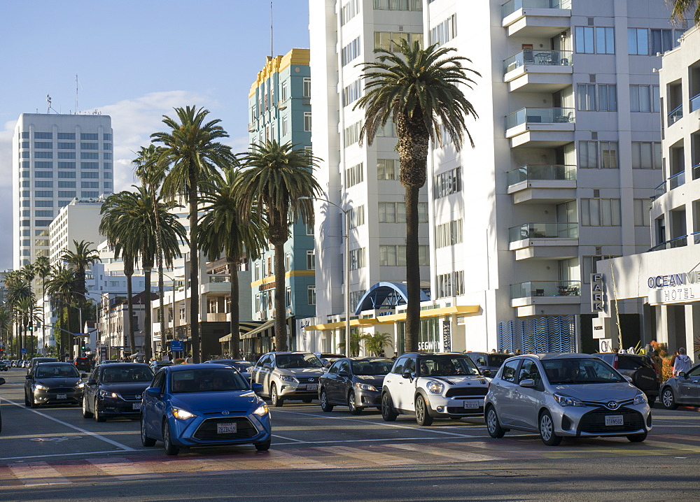 City centre, Santa Monica, California, United States of America, North America