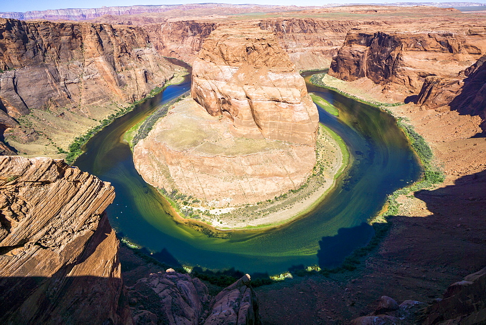 Horseshoe Bend in the Colorado River, Arizona, United States of America, North America - 483-2082