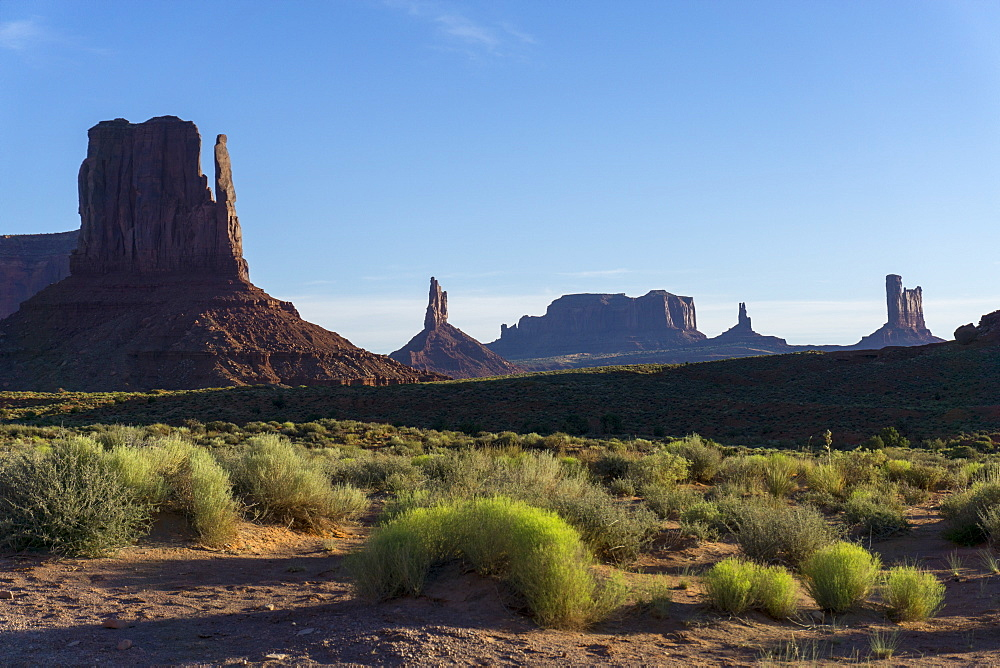 The Mittens West and East, Monument Valley, Arizona, United States of America, North America