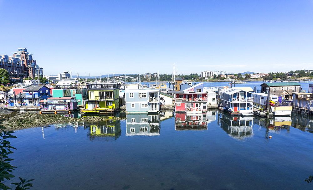 House boats, Victoria, Vancouver Island, British Columbia, Canada, North America