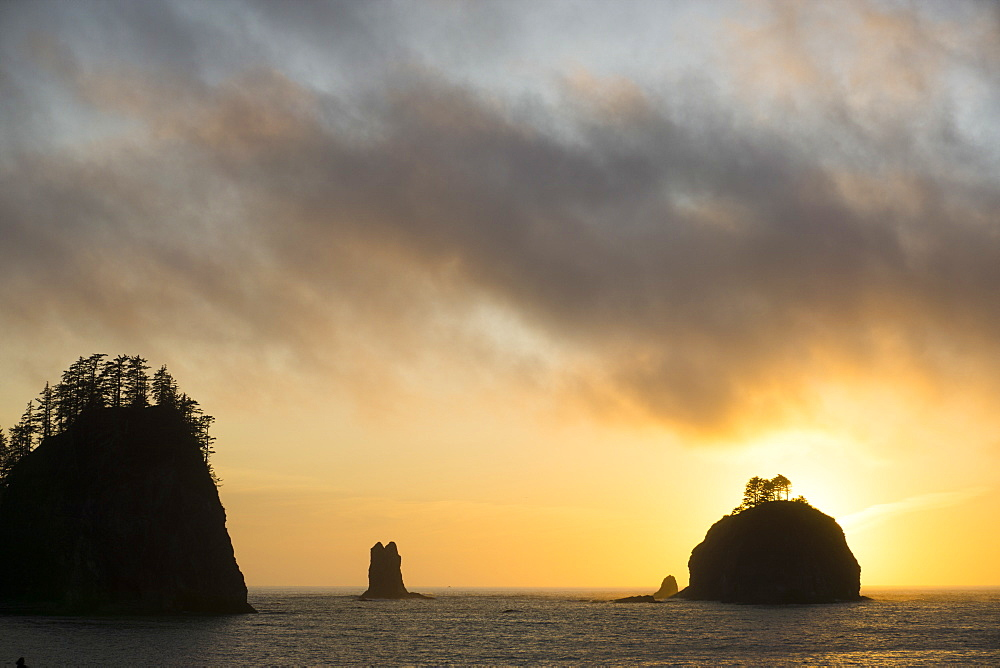 La Push, islands, Indian Reservation of the Quileute people, Washington State, United States of America, North America - 483-2115