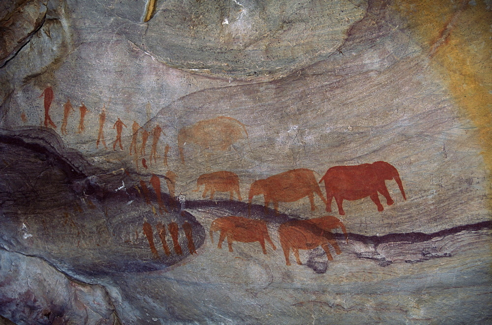 Rock paintings, Matopo Park, Zimbabwe, Africa