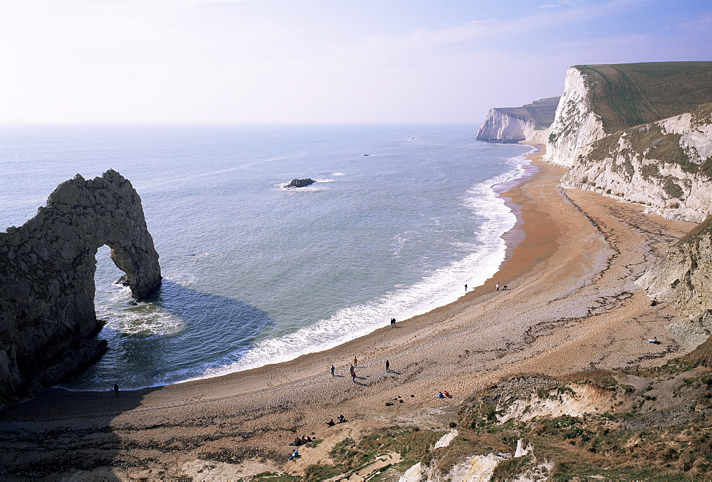 Durdle Door and Bats Head, Dorset, England, United Kingdom, Europe