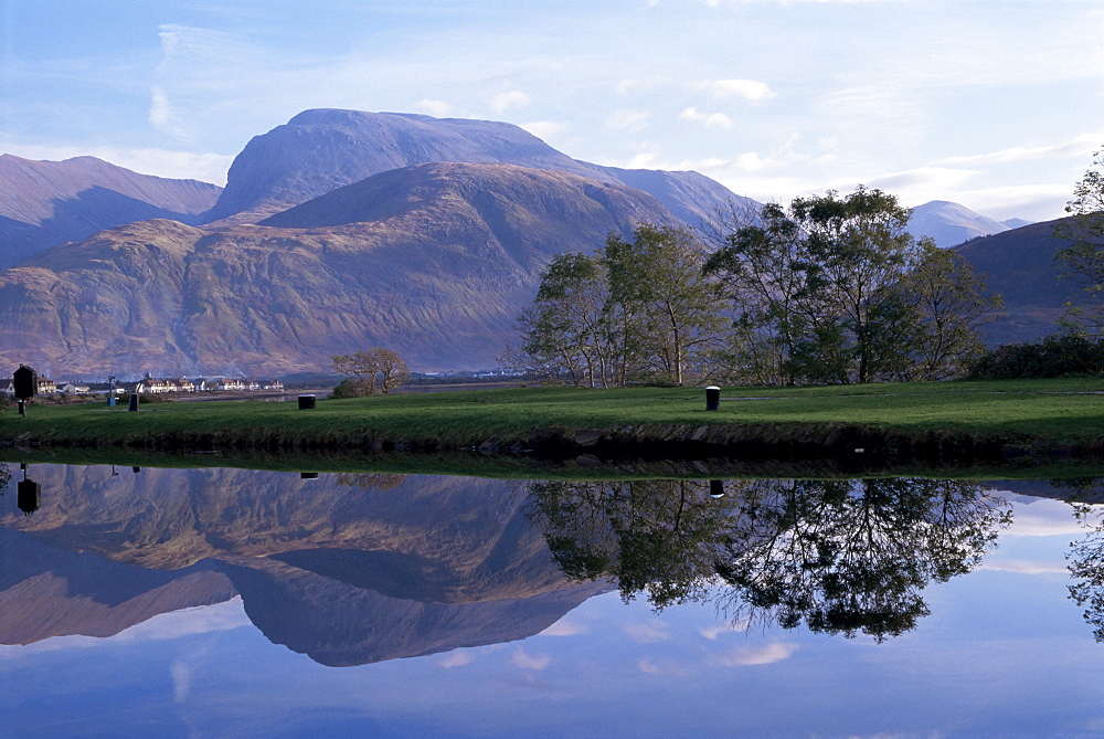 Ben Nevis from Corpach, Highland region, Scotland, United Kingdom, Europe - 485-5078