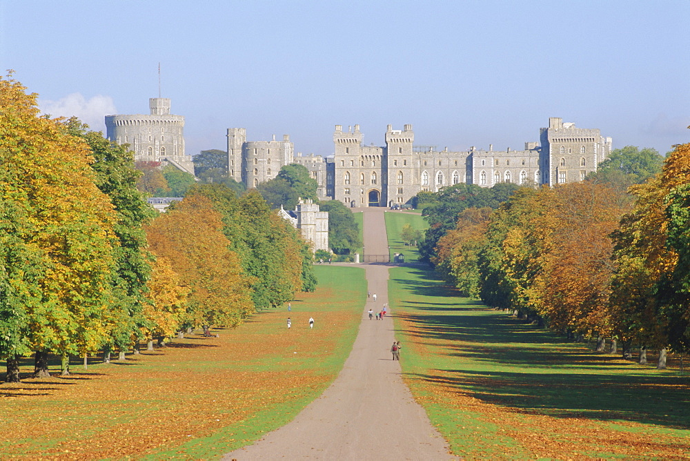 The Long Walk and Windsor Castle, Windsor, Berkshire, England, UK - 485-7035