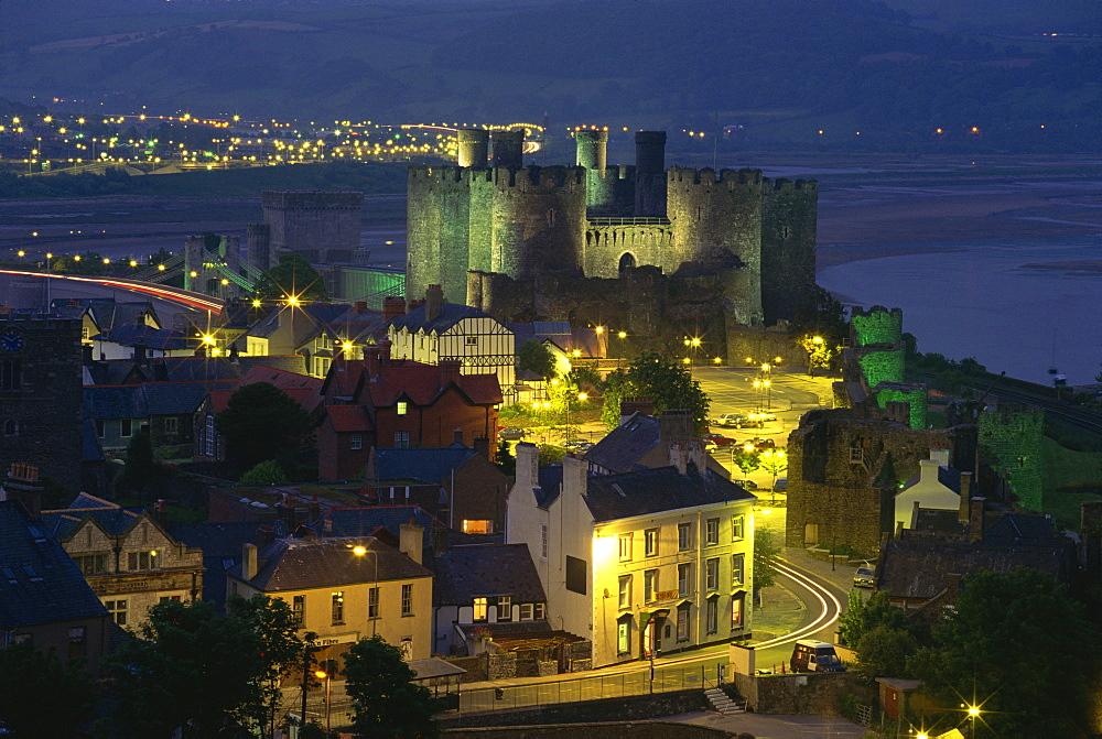 Conwy Castle, UNESCO World Heritage Site, Gwynedd, Wales, United Kingdom, Europe - 485-7427