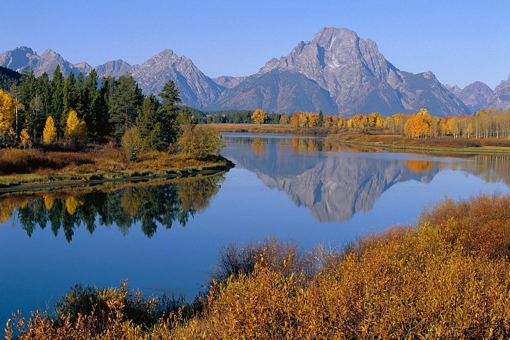 Oxbow bend, Snake River and Tetons, Grand Tetons National park, Wyoming, USA *** Local Caption ***