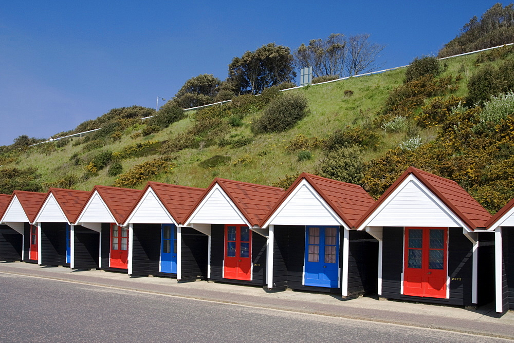 Beach huts at Bournemouth, Dorset, England, United Kingdom, Europe