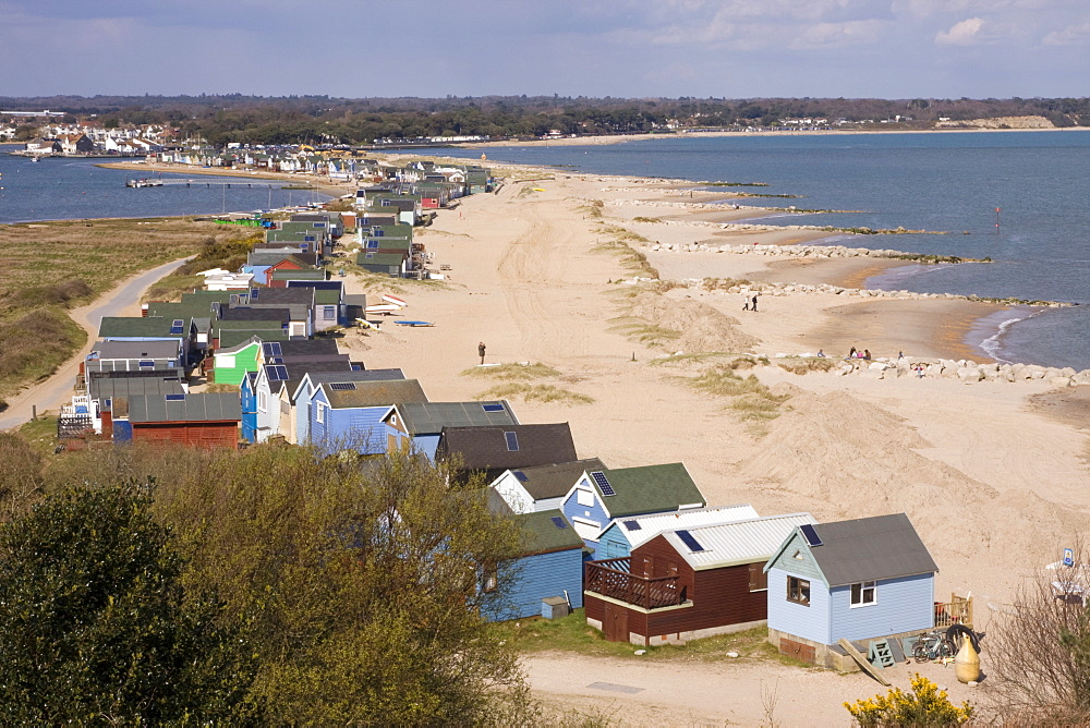 Mudeford spit or sandbank, Christchurch Harbour, Dorset, England, United Kingdom, Europe