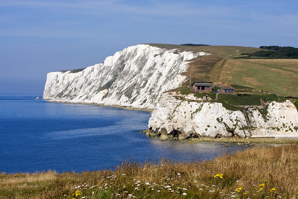Tennyson Down, Black Rock and Highdown Cliffs from Freshwater Bay, Isle of Wight, England, United Kingdom, Europe - 485-9648