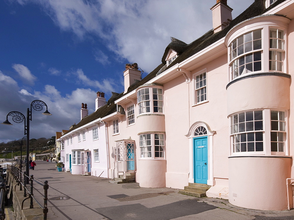 Lyme Regis Cottages, Dorset, England, United Kingdom, Europe - 485-9655