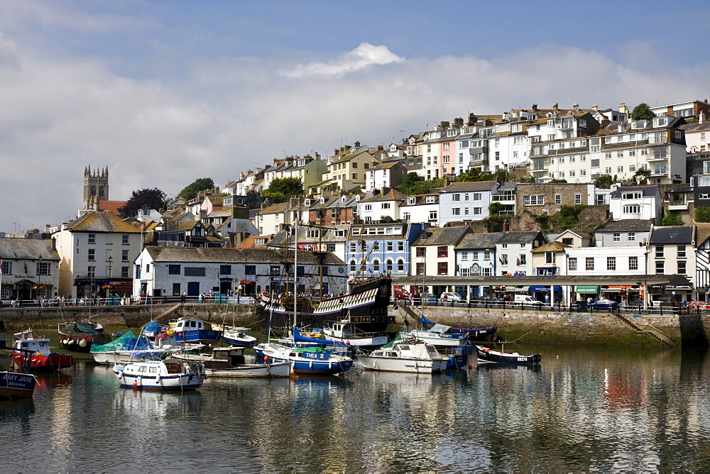 Brixham Harbour, South Devon, England, United Kingdom, Europe - 485-9669