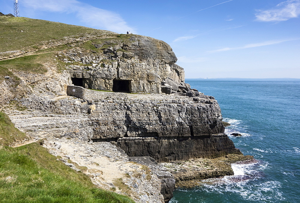 Tilly Whim Caves, Durlston Country Park, Isle of Purbeck, Dorset, England, United Kingdom, Europe - 485-9685