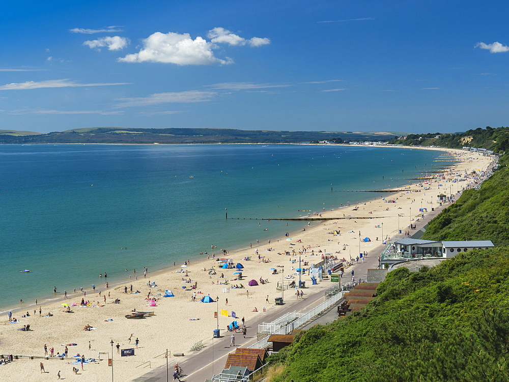 Bournemouth West Beach and Cliffs, Poole Bay, Dorset, England, United Kingdom, Europe - 485-9697