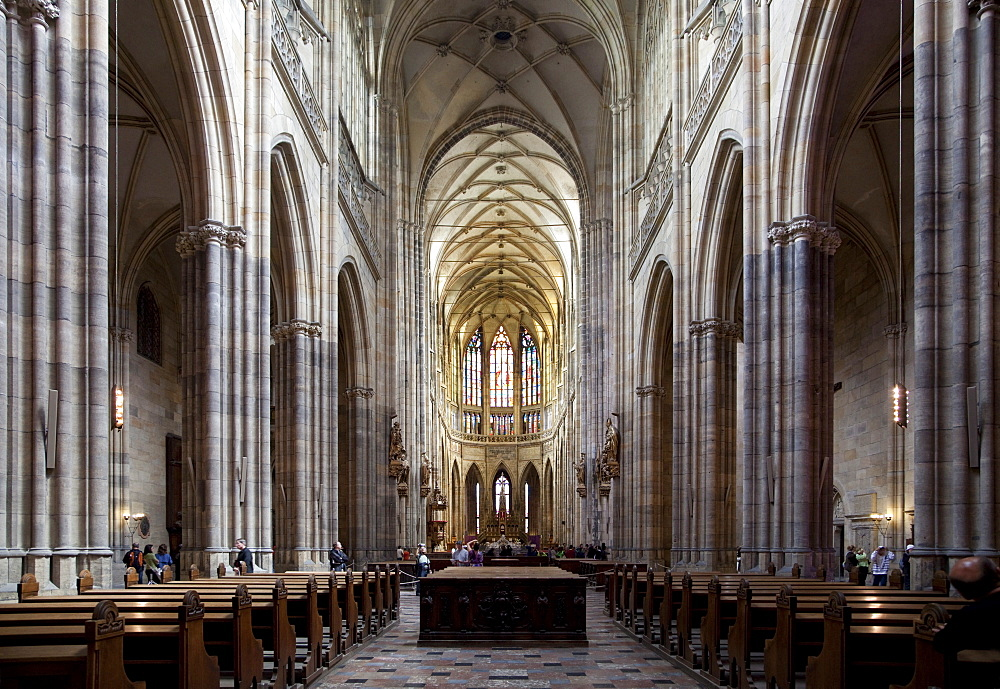 Interior Of St Vitus39s Cathedral Looking East Prague Castle