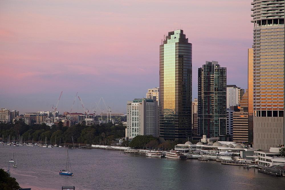 Brisbane River and city centre, Brisbane, Queensland, Australia, Pacific