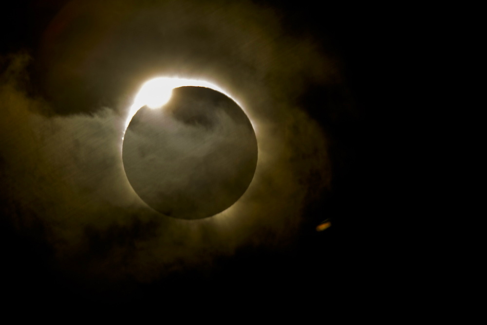 Diamond ring effect during total eclipse of the sun on 13 November 2012 from Palm Cove, Cairns, North Queensland, Australia, Pacific