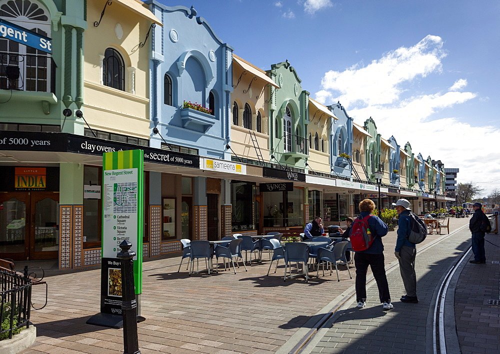 New Regent Street, Christchurch, Canterbury, South Island, New Zealand, Pacific