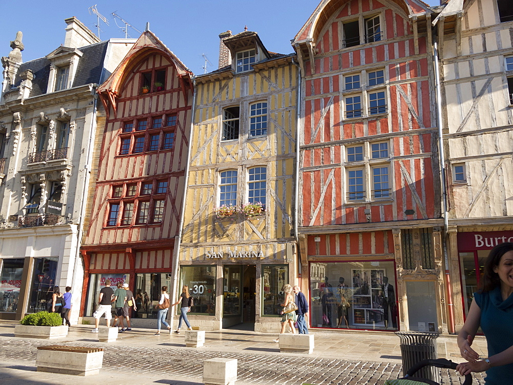 Medieval buildings, Troyes, Aube, Champagne-Ardenne, France, Europe