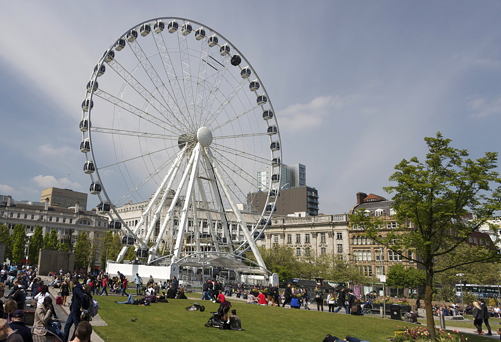 The Wheel of Manchester, Piccadilly Gardens, Manchester, England, United Kingdom, Europe