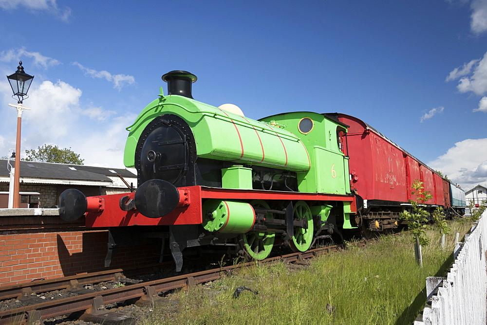 Percy saddle tank locomotive, Museum of Scottish Railways, Bo'ness, Scotland