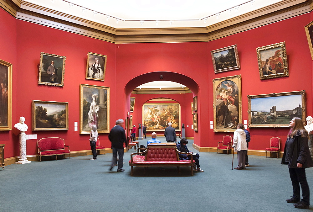 Interior, National Gallery of Scotland, Edinburgh, Scotland, United Kingdom, Europe