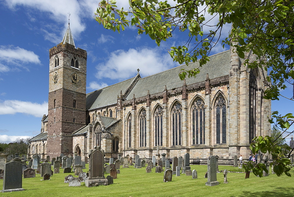 Dunblane Cathedral from the southeast, Dunblane, Stirling, cotland, United Kingdom, Europe