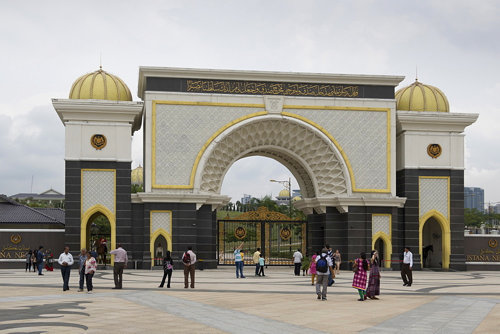 Gateway of Royal Palace (Istana Negara), Kuala Lumpur, Malaysia, Southeast Asia, Asia
