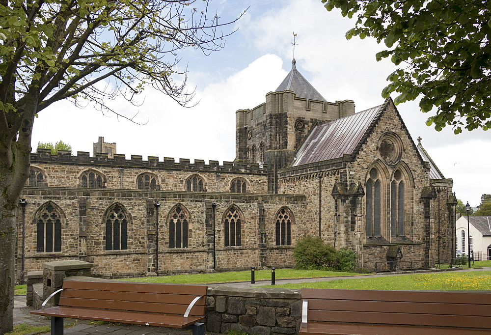 Bangor Cathedral, Wales, United Kingdom, Europe