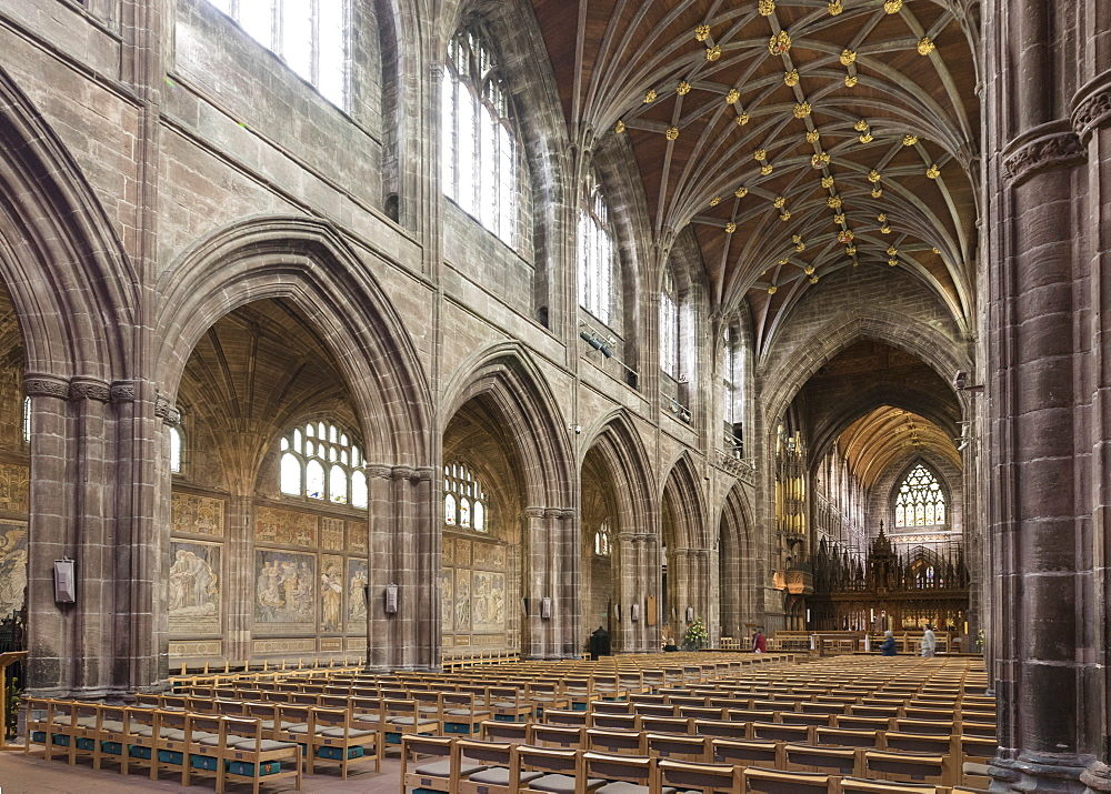 Chester Cathedral, interior looking Northeast, Cheshire, England, United Kingdom, Europe - 489-1651