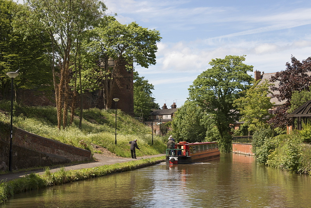 Shropshire Union Canal in Chester, Cheshire, England, United Kingdom, Europe - 489-1656
