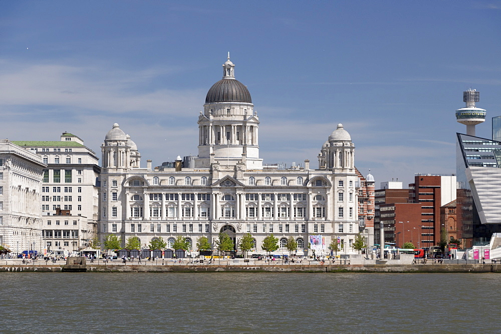 Port of Liverpool Building from the Mersey, UNESCO World Heritage Site, Liverpool, Merseyside, England, United Kingdom, Europe