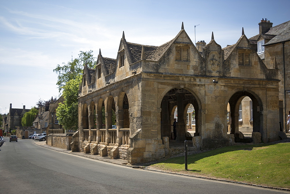 Market Hall dating from 1627, Chipping Campden, Gloucestershire, Cotswolds, England, United Kingdom, Europe - 489-1693